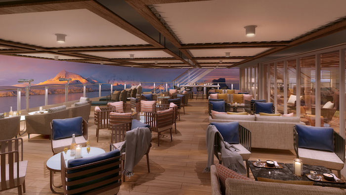 Rendering: Seabourn Square Aft deck, Seabourn Venture. Image: Seabourn/Holland America Line