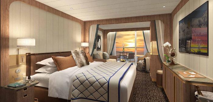 Rendering: Veranda Suite, Seabourn Venture. Image: Seabourn/Holland America Line