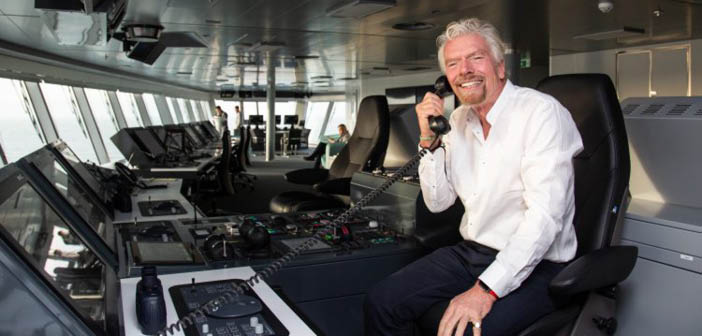 Sir Richard Branson launches Scarlet Lady in Dover